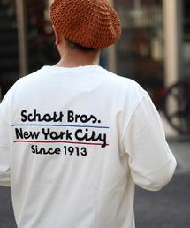 schott(ショット)の【直営店限定】Schott/ショット/EMB SCHOTT BROS LS T-SHIRT(Tシャツ/カットソー)