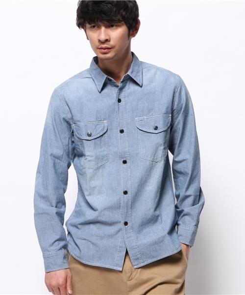 Leeシャンブレーワークシャツ