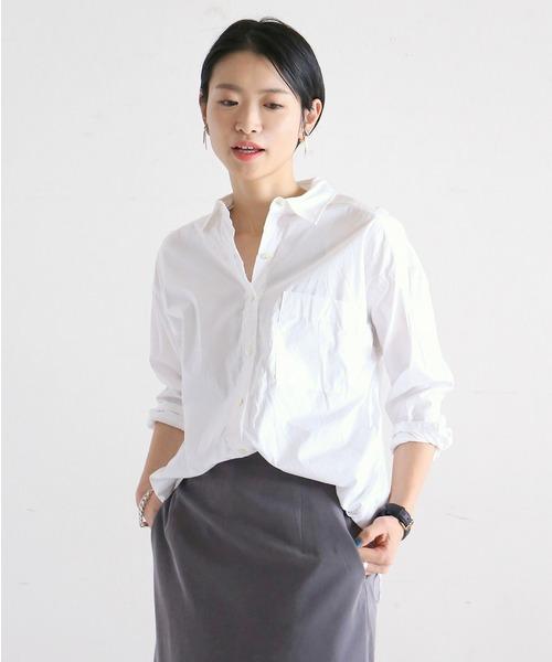 NOMBRE IMPAIR(ノンブルアンペール)の「高密度コットン ワイドシャツ(シャツ/ブラウス)」|ホワイト