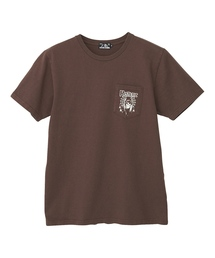 SPIDER WEB GIRL プリント ポケ付Tシャツ