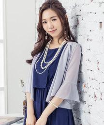 660a3a91d8e8b DRESS STAR(ドレス スター)の「7分丈薄手シフォンパーティボレロ(