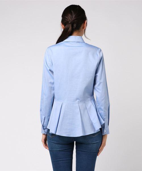 ALANI THE GREY:バックペプラムシャツ