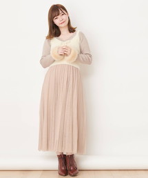 【Ray掲載】ニットビスチェチューツスカートセット(セットアップ)
