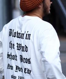 schott(ショット)の【直営店限定】Schott/ショット/EMB BLOWIN'IN THE WIND(Tシャツ/カットソー)