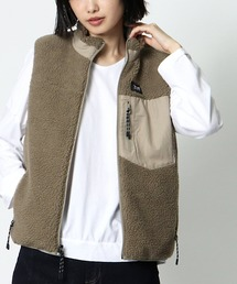 ∴【TAION/タイオン】ボアダウンベスト DON TAION DownxBoa Vカーキ