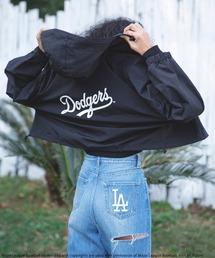 【MLB】ショート丈スポーツジャケットブラック