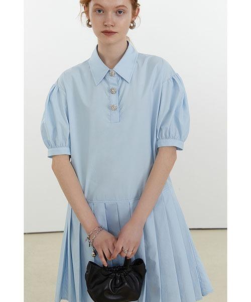 【Fano Studios】【2021SS】Pleated polo dress FX21L174