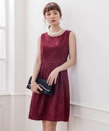 f832b94ff6273 DRESS STAR(ドレス スター)の「ダマスク柄ノースリーブワンピース(ドレス)」