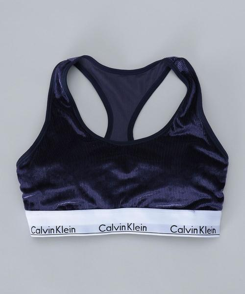 <Calvin Klein Underwear>MODERN VELVET LIGHTLY LINED BRALETTE/ブラ.