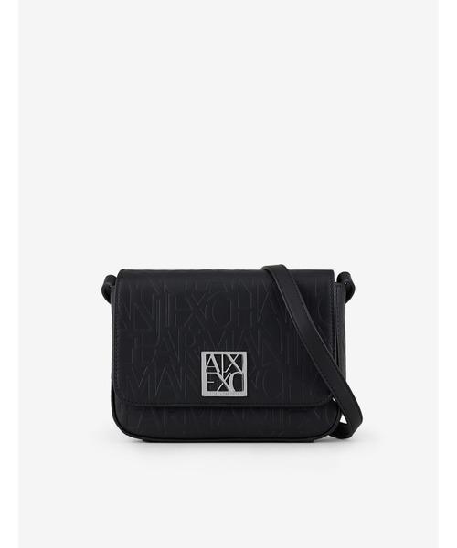 【A Xアルマーニ エクスチェンジ】エンボスロゴパターン ミニショルダーバッグ