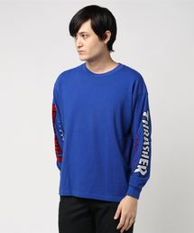 【別注】 <THRASHER> LOGO LONG SLEEVE TEE/Tシャツ ◆