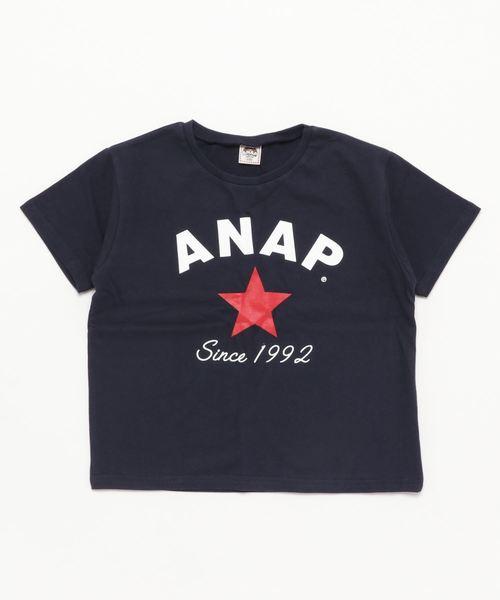 スターロゴプリント ビックTシャツ