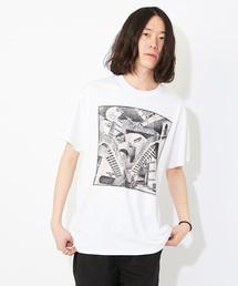 【Maurits Cornelis Escher/マウリッツ・コルネリス・エッシャー】RELATIVITY/プリントTシャツ(Tシャツ/カットソー)