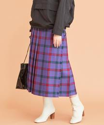 BY∴ LOCHCARRON キルトチェックロングスカート ◆