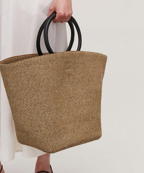 【chuclla】Straw-like basket bag cha198