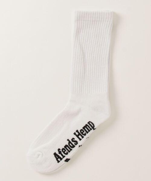 【 AFENDS / アフェンズ 】  ヘンプ コットン ソックス 靴下 ファイヤーパターン刺繍 A2046721 JJA