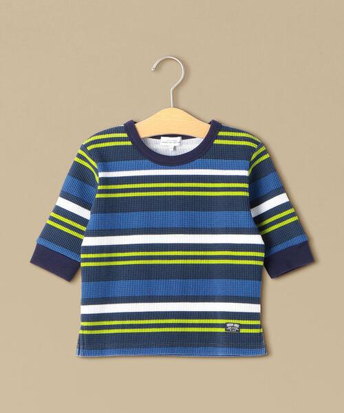 カラーボーダーワッフル 7スリーブTシャツ