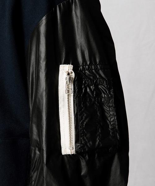 ナイロンコンビボンバージャケット
