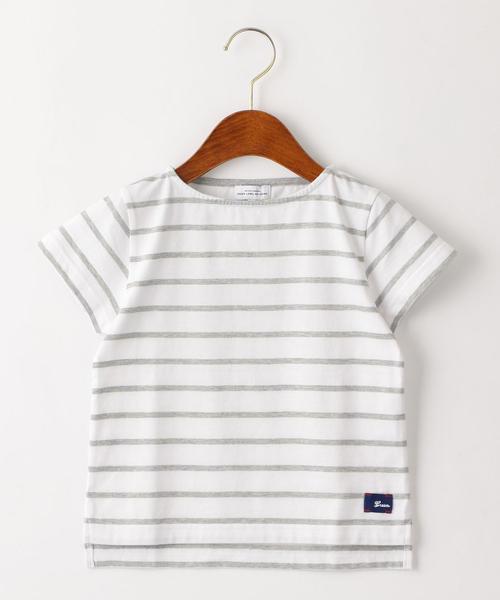 ボーダーボートネックTシャツ