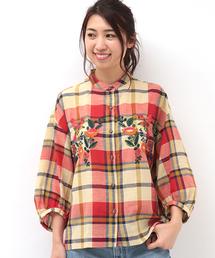 チチカカ(チチカカ)のポッタリー刺繍チェック シャツ(シャツ/ブラウス)