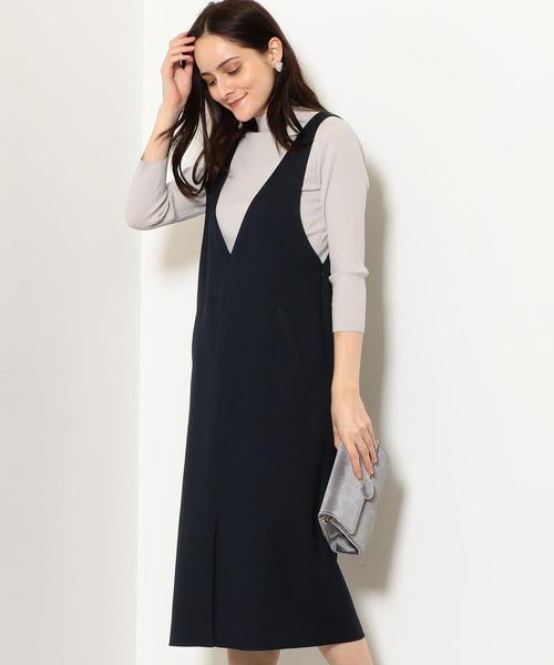FM ポリエステルツイード ジャンパースカート
