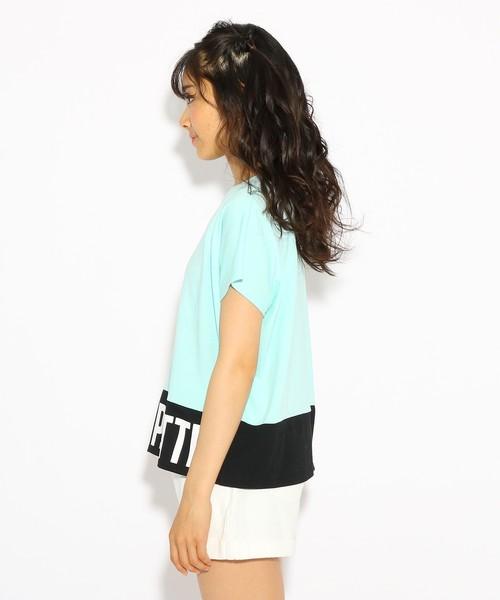 裾ロゴ ドルマン Tシャツ