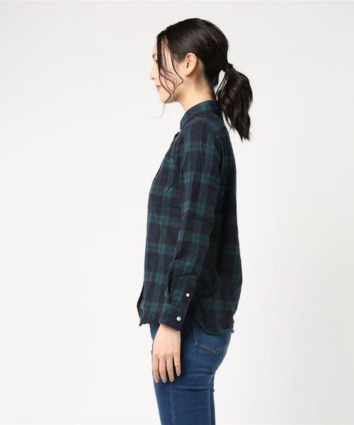(SONTAKU/ソンタク)30/2シャギーチェックシャツWOMENS