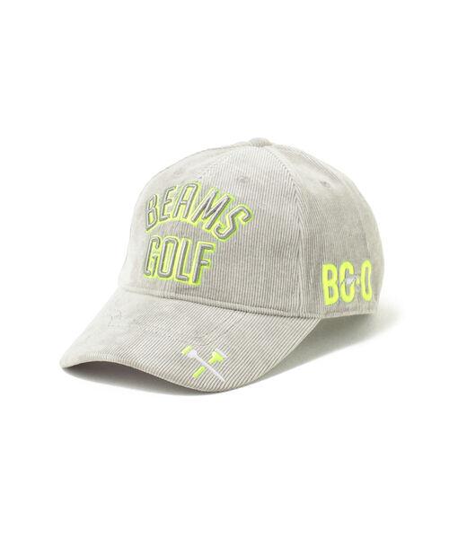BEAMS GOLF(ビームスゴルフ)の「BEAMS GOLF / ツアー コーデュロイ キャップ(キャップ)」 グレー