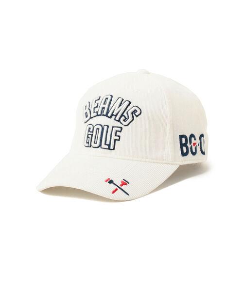 BEAMS GOLF(ビームスゴルフ)の「BEAMS GOLF / ツアー コーデュロイ キャップ(キャップ)」 ホワイト