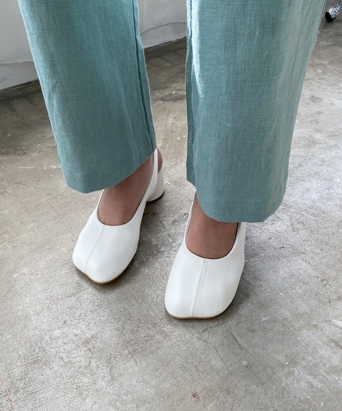 【chuclla】【2021/SS】Wide-toe cylinder-heels pumps sb-6 chs106