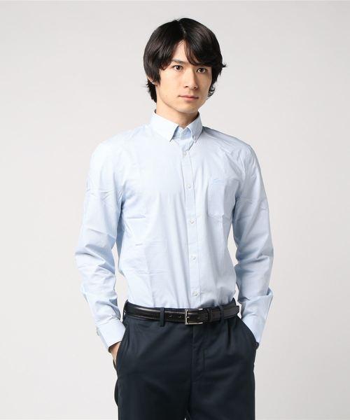 パッチポケットマドラスチェックボタンダウンシャツ