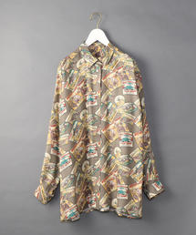 <6(ROKU)>BUFFALO PRINT SHIRT/シャツ