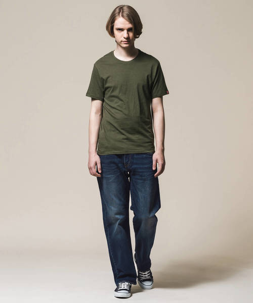 スリム2パックTシャツ OLIVE NIGHT BLACK