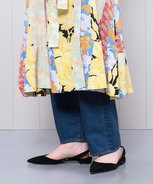 <STINE GOYA>MULTI PRINT WRAP DRESS/ワンピース