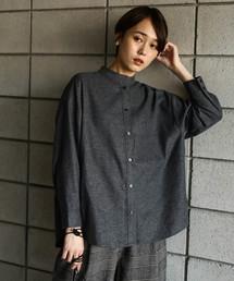 koe(コエ)のバンドカラー起毛シャツ(シャツ/ブラウス)