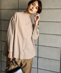koe(コエ)の起毛バンドカラーシャツ(シャツ/ブラウス)