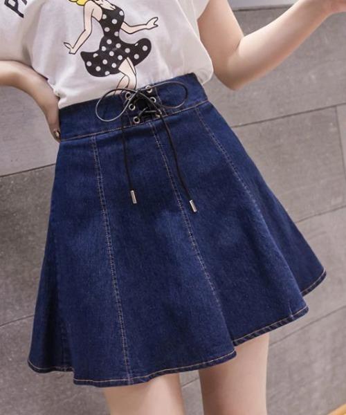 デニムスカートパンツ(2色)