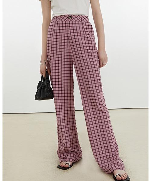 【Fano Studios】【2021SS】Lattice pattern slit hem pants FX21K045