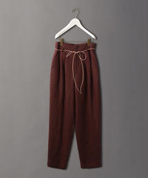 <6(ROKU)>LINEN PANTS BROWN/パンツ