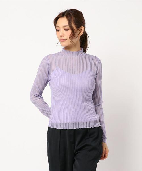 Sheer RIB Knit TOP