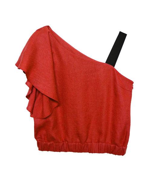 【お買得】 【セール】【AULA】ワンショルダートップス(シャツ/ブラウス) AULA(アウラ)のファッション通販, ミカツキチョウ:f9ee850f --- everyday.teamab.de