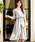 Fashion Letter(ファッションレター)の「リボンベルト付き レーススリーブドレス 謝恩会・結婚式のパーティードレス(ドレス)」|ライトグレー