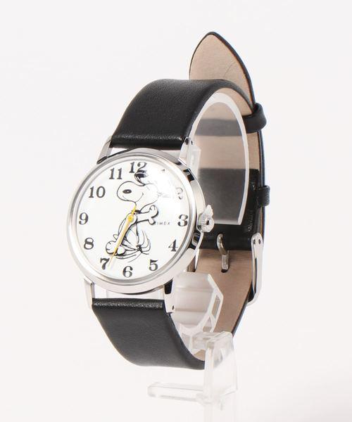 TIMEX(タイメックス)の「【TODD SNYDER×TIMEX】PEANUTS(アナログ腕時計)」|ブラック