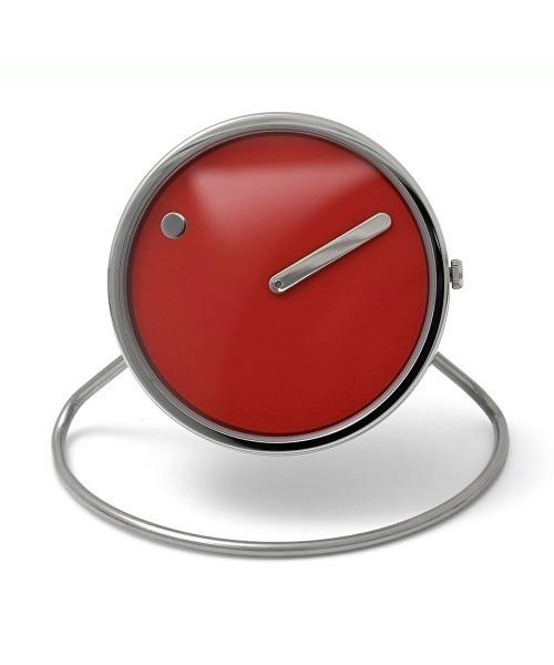 PICTO(ピクト)の「「PICTO/ピクト」ピクト Picto 45 mm 置時計 インテリア(置時計)」|レッド