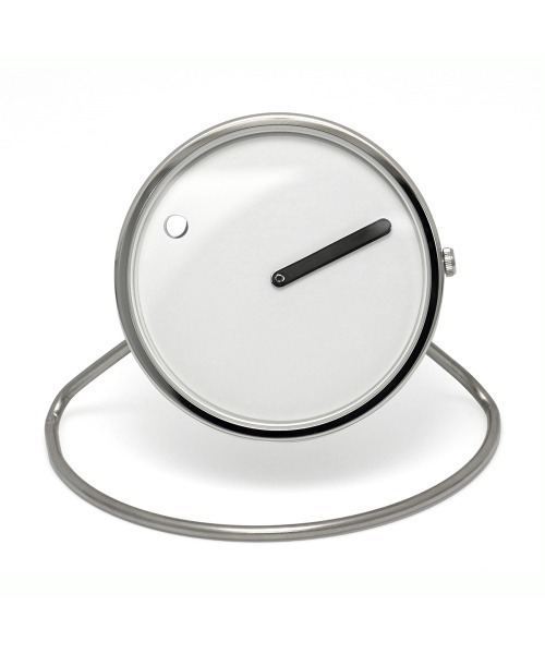 PICTO(ピクト)の「「PICTO/ピクト」ピクト Picto 45 mm 置時計 インテリア(置時計)」|ホワイト×シルバー