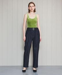 <muller of yoshiokubo>CIRCLE BELT DENIM PANTS/パンツ.