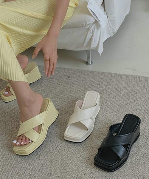 【chuclla】【2021/SS】Cross belt sandal chs108