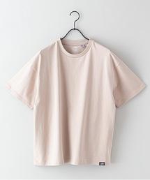 USAコットンヘビーウェイトTシャツ 5分袖 オーバーサイズ/ビッグシルエットベージュ