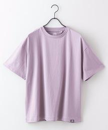 USAコットンヘビーウェイトTシャツ 5分袖 オーバーサイズ/ビッグシルエットダークパープル