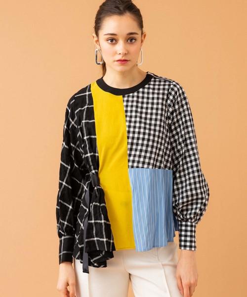 大人気 アシメチェックブロックブラウス(シャツ/ブラウス) TOKYO UNITED UNITED TOKYO(ユナイテッドトウキョウ)のファッション通販, ベビー寝具専門ブランド「Rafens」:2b384cbb --- pyme.pe